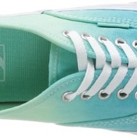 Vans Unisex Authentic Slim (Ombre)Cloisonne Skate Shoes-OmbreIcyGreen-6