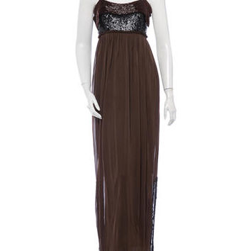Donna Karan Beaded Bodice Dress
