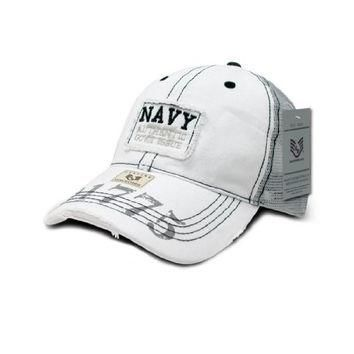 Rapid Dom US Military Vintage Patch Mesh Polo Baseball Caps R85 Navy