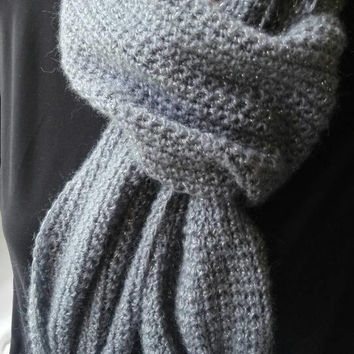Gray scarf, crochet scarf, crochet gray scarf, women scarf, women gift, mom gift, gift for her, amazing scarf, cute scarf, winter scarf