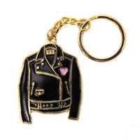 Leather Jacket Keychain