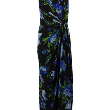 Ralph Lauren Women's One Shoulder Floral Print Gown