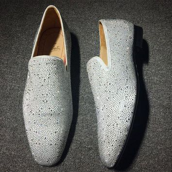 DCCK Cl Christian Louboutin Loafer Style #2401 Sneakers Fashion Shoes