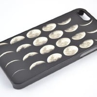 Moon Lunar Phases - Iphone 4/ 4s Case Hard Cover (Black & White)