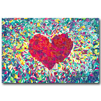 LOVE - Psychedelic Trippy Abstract Art Silk Fabric Poster Print 13x20 24x36inch Picture For Living Room Decor 047