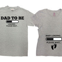 Matching Shirts Pregnancy Couple T Shirts Baby Announcement Expecting Parents New Baby Gifts Dad To Be Mom To Be Couple Tees SA171-172