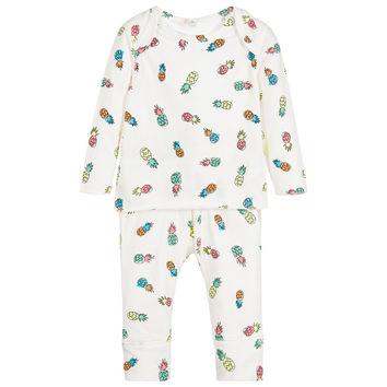 Stella McCartney Baby Colorful Pineapple Print Two-Piece Set