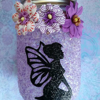 Fairy jar night light, fairy in a jar, mason jar lamp, mason jar light