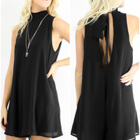 The Luxe Little Black Chiffon Romper