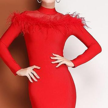 Fate Feather Bandage Dress