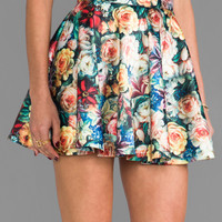 MINKPINK Secret Garden Skirt in Multi