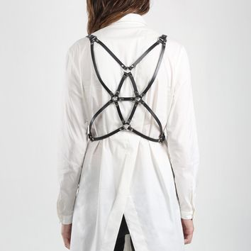 Fractal Leather Body Harness