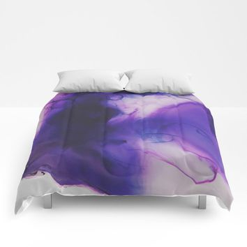 Violet Aura Comforters by duckyb