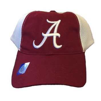 Alabama Crimson Tide White Mesh Back Cap | BAMA White Mesh Back Cap | Alabama Crimson Tide Adjustable Hat