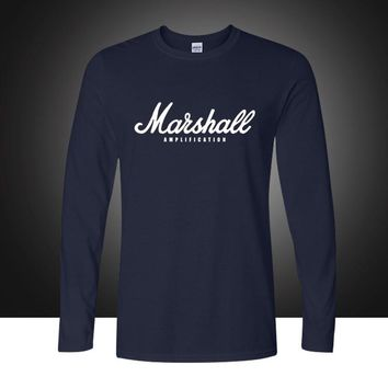 New fashion The Marshall Mathers LP printed T Shirts Men Long Sleeve O Neck T-shirts Top Tees Cotton Leisure Tshirts Plus Size