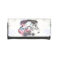 Loungefly Star Wars Stormtrooper Floral Galaxy Flap Wallet