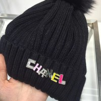 CHANEL Women Beanies Winter Knit Hat Cap
