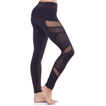 Sexy Mesh Panel Leggings