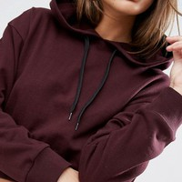 ASOS Cropped Pullover Hoodie at asos.com