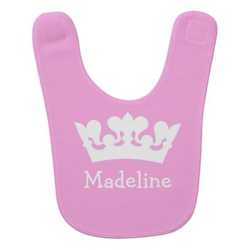 Little Princess Custom Pink Baby Bib