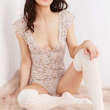 Out From Under Brushed Lace Bodysuit - Urban Outfitters