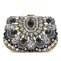 Moccen 2017 Wedding Party Handbag Women Bags Designer Beads Evening Clutch Wallet  Fashion Purse Female Purses And Handbags