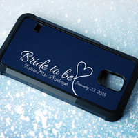 Future Mrs Custom Navy + White Bride to be Phone Case for iPhone 4, 4s, 5, 5s, 5c, 6, 6+, 6s, 6s Plus, Samsung Galaxy S4, S5, S6