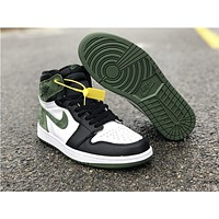 Air Jordan 1 Retro OG Hi Black/Green/White Sneaker Shoe
