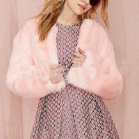 Pink Fluffy Princess Coat
