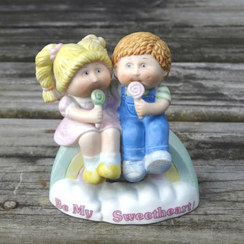 "Vintage Cabbage Patch Kids Figurine 1984 ""Be My Sweetheart"" Rainbow"