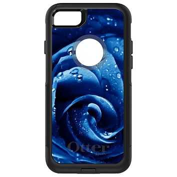 DistinctInk™ OtterBox Commuter Series Case for Apple iPhone or Samsung Galaxy - Blue Dew Covered Rose