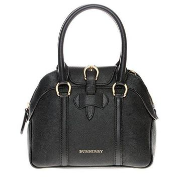 Burberry Women's Small Milverton Bowling Bag Black