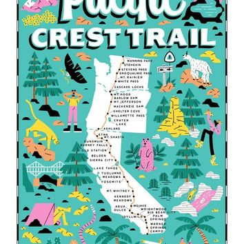 Pacific Crest Trail Tea Towel