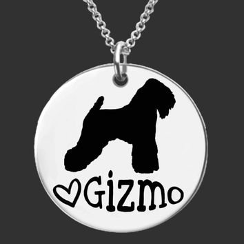 Wheaten Terrier Personalized Necklace