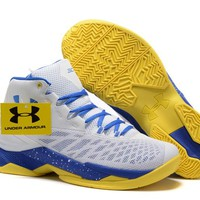 Under Armour Men's SC30 Stephen Curry 3.5 White/Royal Blue/Yellow Sport Sneaker