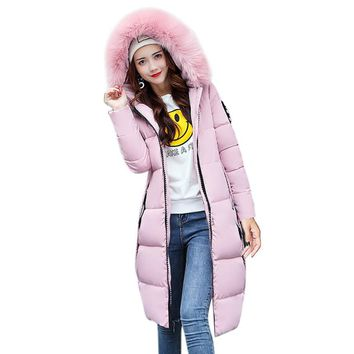 Women Jacket Winter Coat Thick Slim Down Jacket Coat Overcoat