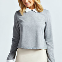 Brooke Collared Sweatshirt