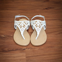 Cruisin' Around Sandals - White