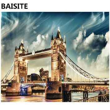 BAISITE Frameless DIY Oil Painting Pictures By Numbers On Canvas Wall Pictures Wall Art For Living Room Home Decoration 960