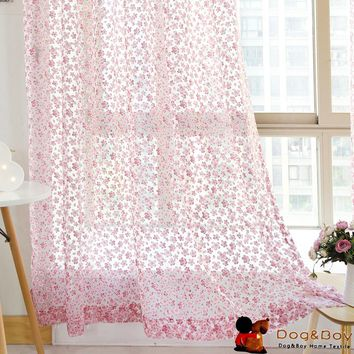 Classic Floral Burnout Curtain For Window Tulle Curtains Living Room Curtains