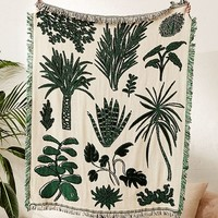 Calhoun & Co. Plants! Throw Blanket | Urban Outfitters