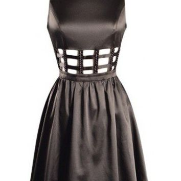 Cut Out Dress - Kely Clothing