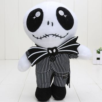 The Nightmare Before Christmas Jack Skellington Sally Black Skeleton Skull Plush Toy stuffed doll Halloween Gift