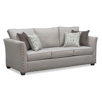 Mckenna Queen Memory Foam Sleeper Sofa - Pewter