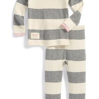 Infant Girl's Burt's Bees Baby Organic Cotton Two-Piece Fitted Pajamas