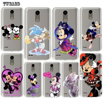 Cute Minnie Mouse Cool Mickey For LG Q6 Q8 G4 G5 G6 K4 K7 K8 K10 2017 X Screen Power 2 Phone case Cartoon TPU case for LG K4