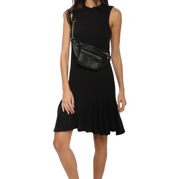 Jac Parker Mock Neck Ribbed Dress