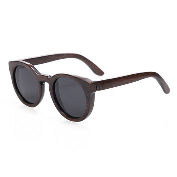 Round Cat Eye Bamboo Sunglasses *multiple color lenses