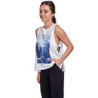 WHITE CROPPED TANK WITH FRONT LOGO