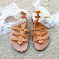 leather sandals with lace trim, wedding sandals, gladiator sandals , lace up sandals
